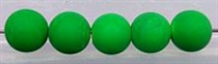 Size 12mm Round Bead/Neon Green Blaze Coat UV/100 Pack
