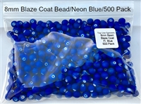 Size 8mm Round Bead/Blaze Coat Neon Blue/500 Pack