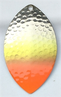 Size 6 FB Series Blade/Hammered Nickel w/Chartruese & Red Tip/2 Pack