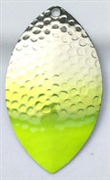 Size 6 FB Series Blade/Hammered Nickel w/Chartruese Tip/2 Pack