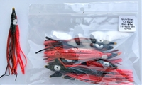 "3.5"" Squid Body/Black and Flame Red/10 Pack"