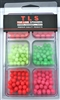 Glow Bead Assorment Pack/8 & 10mm/210 pieces