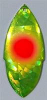 Size 7 SKS Series Blade/Holographic Chartruese SG Foil w/Red Dot/2 Pack
