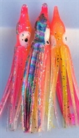 "2"" Squid Body/Pink & Chartreuse w/Laser UV /6 Pack"