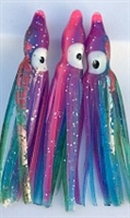 "2"" Squid Body/Rainbow w/Laser UV /6 Pack"