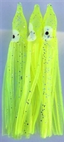 "3"" Squid Body/Chartreuse UV/6 Pack"