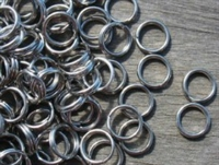 Size 5 Stainless Steel Split Rings/50 Pack