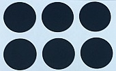 "1/2"" Round Dot/Black/48 Pack"