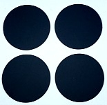 "3/4"" Round Dot/Black/24 Pack"