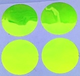 "3/4"" Round Dot/Chartreuse UV/24 Pack"
