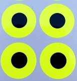 "3/4"" Round Dot/Chartreuse Contrast Dot/24 Pack"