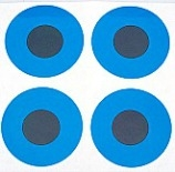 "3/4"" Round Dot/Blue Contrast Dot/24 Pack"