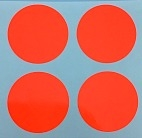 "5/8"" Round Dot/Fluorescent Red/30 Pack"