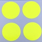 "5/8"" Round Dot/Chartreuse/30 Pack"