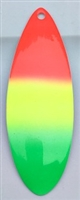 Size 7 Tide Tamer Series Blade/Flame-Chartruese-Green Tip/Pearl White Back/2 Pack