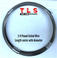 1/4 Pound Coiled Wire/.031 Diameter/195 #test/97 Foot Coil