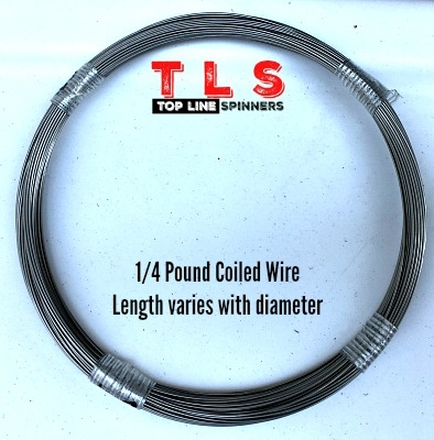 1/4 Pound Coiled Wire/.035 Diameter/240 #test/76 Foot Coil