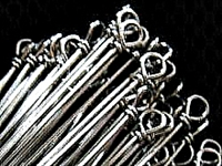 "Stainless Steel Wire/.031 Dia./6"" Looped Shaft/50 Pack"