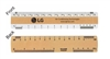"6"" Architectural Double Bevel Ruler"