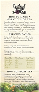 Cheat Sheet - How to Make a Great Cup of Tea  - Lana's The Little House