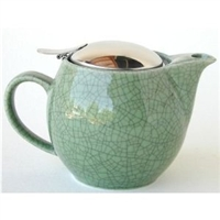 Bee House 26-oz. Teapot with Filter, Crackle Green