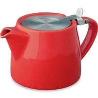 Stump Teapot Red 18 oz