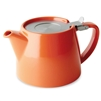 Stump Teapot, Carrot, 18 oz.