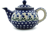 Polish Pottery Teapot, 30 oz.