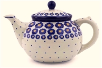 Polish Pottery Teapot, 40 oz.
