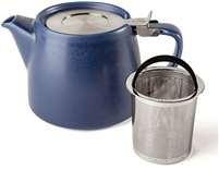 Artisan Collection Stump Teapot, Indigo, 18 oz.