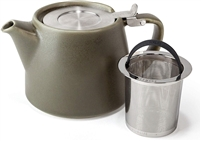 Artisan Collection Stump Teapot, Olive, 18 oz.