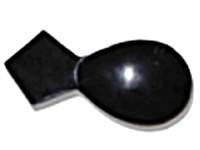 Dark Brown Horn Scoop