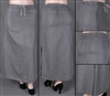 SG-85821X-A Silver Grey plus size long skirt