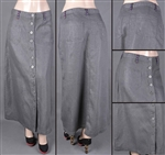 SG-85964 Silver Grey long skirt