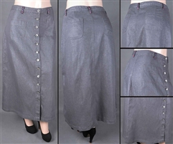 SG-85964X Silver Grey long skirt