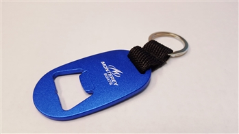 Key Tag with Bottle Opener - BLUE