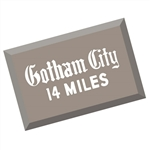Batman - 1966 TV Series Gotham City Metal Sign