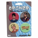 Archer - Whore Island Button Set