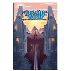 Jurassic World - Park Gates Large Metal Sign