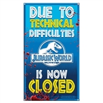 Jurassic World - Ride Closed Medium Metal Sign