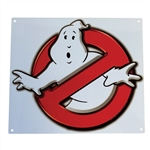 Ghostbusters - No Ghosts Logo Metal Sign