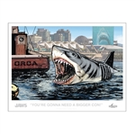 Jaws - Bigger Con Lithograph San Diego Comic-Con Convention Exclusive