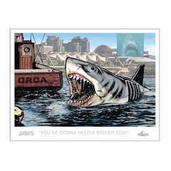 Jaws - Bigger Con Lithograph 2019 San Diego Comic-Con Convention Exclusive