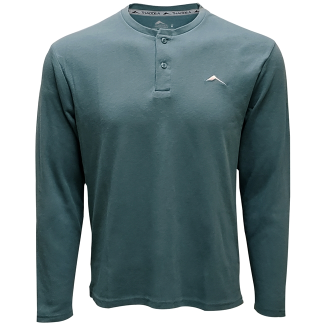 THADDEA Enhanced Tech Henley L/S Top