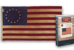 Historical Betsy Ross CottonTea Dyed Flag