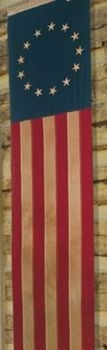 13 Star Pull Down Tea Dyed Cotton Flag