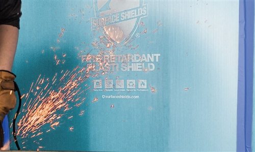 Corrugated Coroplast - 4' x 8' Sheet - Fire Resistant Blue - Surface Sheilds