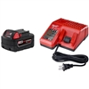 Kit,  Battery & Charger Starter Milwaukee M18 - 5.0 Amp XC