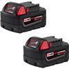 Battery, Milwaukee M18 - 5.0 Amp XC (2 PK)