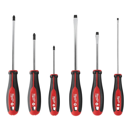 6 Pc. Assorted Screwdriver Set w/ Mag. Tips #48-22-2706